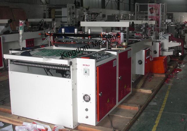 Machine de sac plastique à poignée souple,sac plastique imprimé à poignées découpées